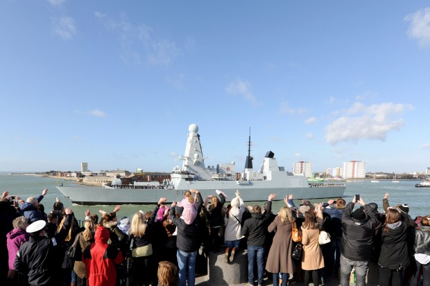 HMS Duncan, the Royal Navy's newest warship, sailed from Portsmouth today for her maiden deployment. The Type 45 destroyer will spend nine months working with allies in the Mediterranean, Middle East and Gulf to protect allied and merchant shipping and wider British interests in the region. The ship is armed with the highly sophisticated Sea Viper missile system able to track and engage several aircraft and missile targets at very high speed. In addition Duncan acts as a floating base for a Royal Navy Lynx Mark 8 maritime attack helicopter which can hunt submarines and surface ships or act in a search and rescue role. HMS Duncan will also carry both Royal Navy and Royal Marine boarding parties which can help to counter the threat from pirates, terrorists and smugglers. [Picture: Crown Copyright]