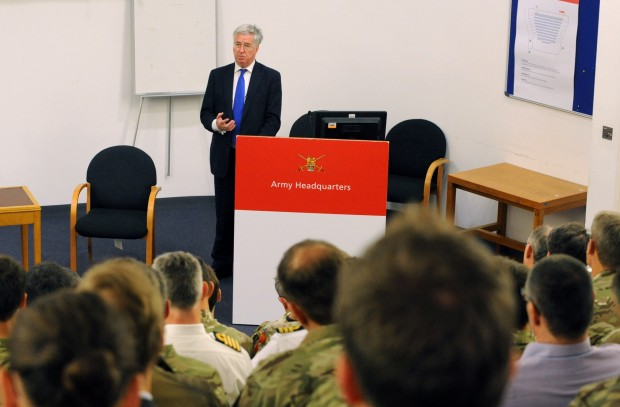 Rt Hon Michael FALLON MP Secretary of State for Defence visited Army HQ in Andover today to speak to senior officers on his plans for Defence over the next five years of Conservative Government. He was met by General Sir Nick Carter, Chief of General Staff. The Minister emphasised the need for the Army to remain 'ready' to deter against threats and protect the UK and our NATO allies. On the issue of reforms he said, 'The best outcome for me as Secretary of State is to say, we have what Defence needs'. The Secretary of State for Defence has overall responsibility for the business of the department providing strategic direction on policy, operations, acquisition and personnel matters, including: Operational strategy, including as a member of the National Security Council. Defence planning, programme and resource allocation international relations including lead for US, France and Saudi Arabia. Defence exports policy, including as chair of the cross-Government Exports Working Group, Nuclear programme and Communications. Pic- Richard Watt / MOD