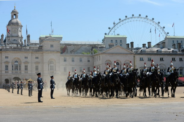 Image shows Horses as they accompany the Queen on her way back to the Palace after the State Opening of Parliament. ARMED FORCES PROVIDE GLITTERING CEREMONY FOR STATE OPENING OF PARLIAMENT The armed forces played a major role in the pomp and ceremony that is part of the State Opening of Parliament, which took place today. In all, 1384 members of the Armed Forces and 229 horses were on public show in a variety of ceremonial roles. The State Opening of Parliament is one of the most colourful events in the London Ceremonial calendar when all elements of the Army's Household Division, and other elements of the Armed Forces, line the streets and escort Her Majesty The Queen's procession from Buckingham Palace to the House of Lords.The State Opening marks the formal start of the next parliamentary session. The primary purpose of this colourful tradition is to set out the government's legislative agenda to both Houses of Parliament in the Queen's Speech.