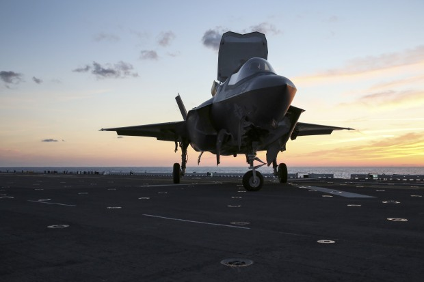 A group of Royal Navy and Royal Air Force personnel are currently at sea onboard USS WASP, joining American colleagues in the latest F-35B Lightning II fast jet trials. Lightning II is a STOVL aircraft: Short Take Off Vertical Landing. It will place the UK at the forefront of fighter technology, giving the RAF a true multi-role all weather, day and night capability, able to operate from well-established land bases, deployed locations or the Royal Navy's Queen Elizabeth Class Aircraft Carriers. (Marine Corps photo by Cpl. Anne K. Henry)