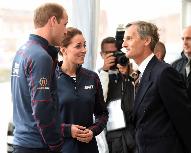Their Royal Highnesses The Duke and Duchess of Cambridge visited HM Naval Base Portsmouth yesterday (Sunday 26 July) to meet the international sailing teams taking part in the World Series Races to determine the contender for the America's Cup Trophy in 2017.