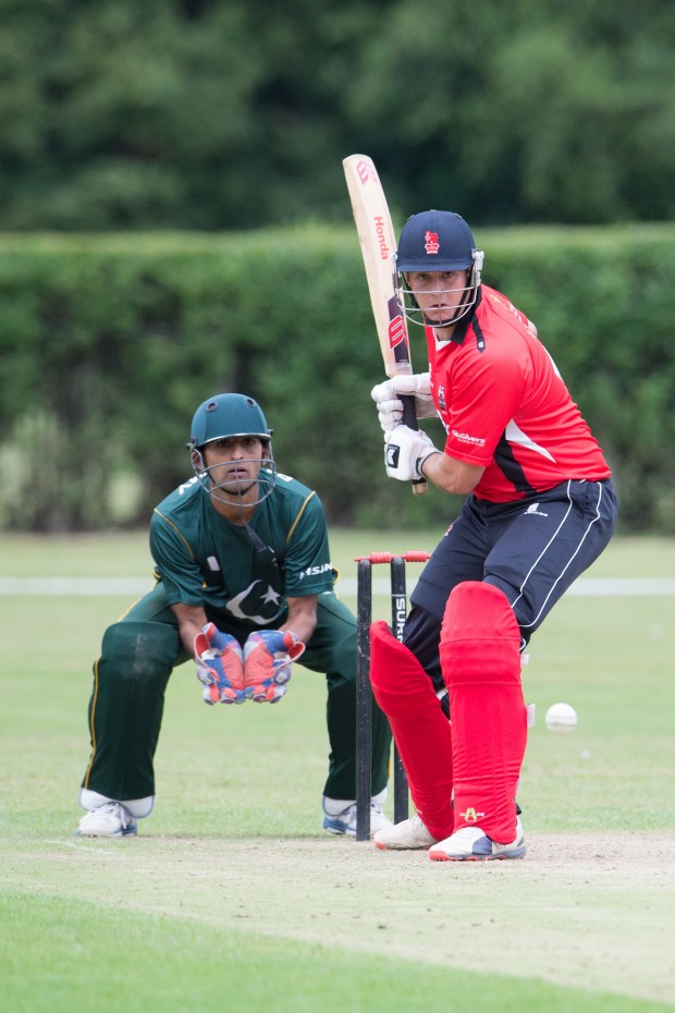 On Monday 27th July 2015 the British Army's first XI vs The Pakistan Army's first XI was played at the British Army's home Cricket Ground in Aldershot. Among the principle guests invited to watch the match were Senior British and Pakistani officers, His Excellency Syed Ibne Abbas, the Pakistan High Commissioner along with fellow members from he Pakistan High Commission and members of business and regional communities. On the invitation by the British Army's Chief of the General Staff, General Sir Nick Parker, the Pakistan Army Cricket Team is touring the United Kingdom from 22nd - 30th July 2015 in a series of matches designed as much to further foster relationships between the two nations military communities, through the Defence Engagement initiative, as it is to test each others teams at the crease. Crown copyright. Photo credit: Corporal Max Bryan (Army Photographer)