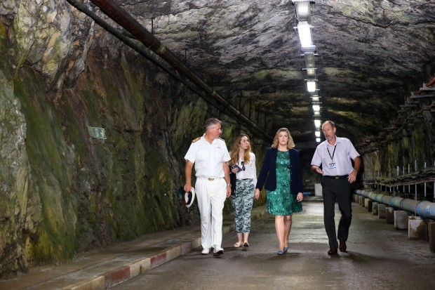 Armed Forces Minister Penny Mordaunt accompanied by Commander British Forces Commodore Ian McGhie visit one of the many tunnels within Gibraltar. On her first official visit to Gibraltar since taking up post, Minister for the Armed Forces Penny Mordaunt met with various Service personnel stationed at the UK Overseas Territory. As part of a familiarisation visit she held discussions with His Excellency the Governor, Sir James Dutton, Chief Minister Mr Fabian Picardo via video link, and Deputy Chief Minister Dr Joseph Garcia. She is also due to meet personnel from the Royal Navy Gibraltar Squadron who contribute to demonstrating sovereignty over the territorial waters. She was given a tour of the 'Rock' then updated on various topics led by Commander British Forces Gibraltar Commodore Ian McGhie in addition to meeting personnel from the Royal Gibraltar Regiment, Royal Air Force, Gibraltar Defence Police and the Royal Navy.