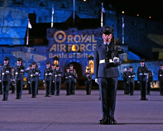 """RAF LOSSIEMOUTH SUPPORTS THE ROYAL EDINBURGH MILITARY TATTOO This year's Royal Edinburgh Military Tattoo is set to be the most spectacular yet with flypasts planned by Typhoons from RAF Lossiemouth's 1(Fighter) Squadron. The Tattoo's unique ability to bring together thousands of people for this annual celebration of music and entertainment continues and the public's appetite for pomp and ceremony shows no sign of diminishing.   This year's event will see a parade of talent from 4 continents as the world's most famous military tattoo celebrates 'East Meets West'. Set against the stunning backdrop of Edinburgh Castle, presentations will include flypasts, pipers, drummers, singers and dancers as well as one of the world's most sensational percussion groups, Switzerland's Top Secret Drum Corps.  Officer Commanding 1(Fighter) Squadron, Wing Commander Michael 'Sooty' Sutton said; """"The Royal Edinburgh Military Tattoo is one of the showpiece events held in Scotland and is famous around the world.  It is a great privilege to be able to support an occasion that demonstrates the enormous wealth of talent that the military has within its ranks."""" He continued; """"This year's event is extra special for the Royal Air Force as it commemorates the 75th Anniversary of the Battle of Britain.  As the Commanding Officer of a Squadron that was heavily involved in the fighting of 1940, the flypasts will be a poignant salute to the sacrifices of my predecessors.""""   Performers from over 48 countries have taken part in the Tattoo, and around 30 per cent of the 220,000 audience each year are from overseas. In addition to this, the Tattoo has been televised in more than 40 countries. An annual television audience of 100 million watches the coverage worldwide. Originator: Flt Lt Myers Section:MCO Ext:6175 *For more Information Contact Photographic Section, RAF Lossiemouth, IV31 6SD. Tel: 01343 817191"""