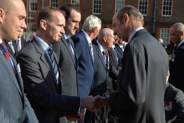 Lt Col Mark Davis GM and the Duke of Kent
