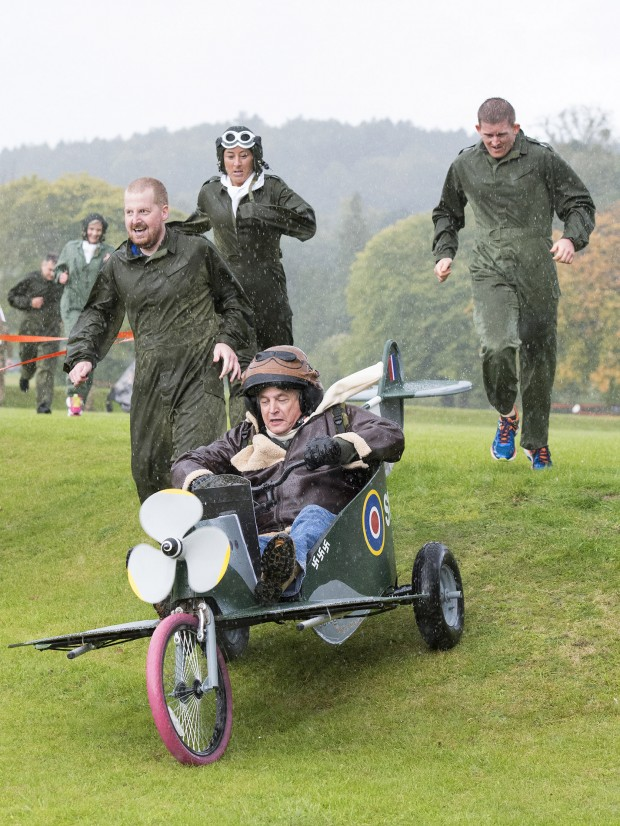 RAF personnel, MOD civilians and contract personal at RAF Halton took part in a Soap Box Derby as part of their commemoration of the 75th anniversary of the Battle of Britain