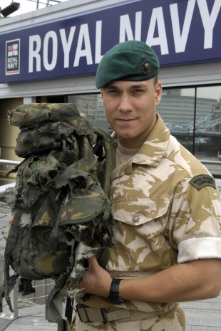 Lance Corporal Matt Croucher, a Royal Marine Reservist who dived on a live grenade to save his comrades in Afghanistan