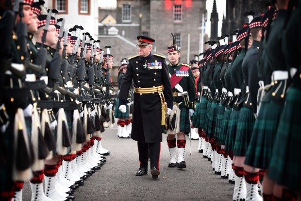 The Installation of the new Governor of Edinburgh Castle, Major General Mike Riddell-Webster.