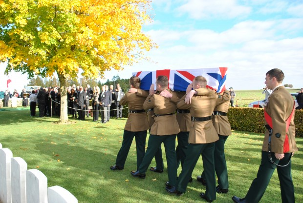Royal Irish Regiment carry Sgt Blakey