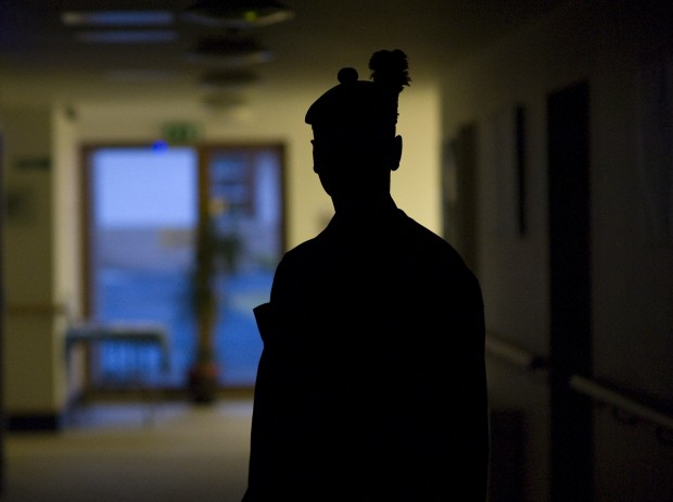 British Soldier at the Army's Personnel Recovery Centre in Edinburgh