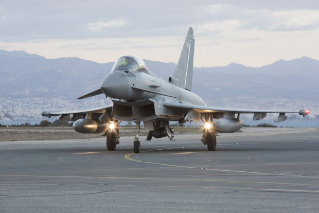 Six Royal Air Force Typhoons and two Tornado GR4s arrive at RAF Akrotiri in support of OP Shader, less than 24hours since the parliamentary vote to undertake air strikes in Syria. Last night parliament granted approval for the UK to extend their airstrikes to include Syria, as well as Iraq, as part of counter-Daesh coalition operations. Within hours, Royal Air Force Tornados flew their first offensive operation on terrorist targets inside Syria.