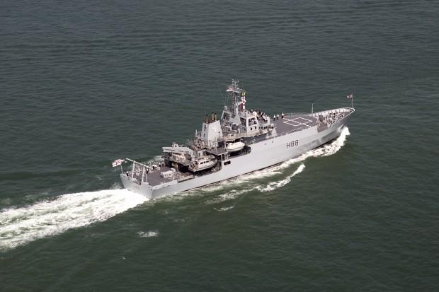 HMS Enterprise, taking part in the International Fleet Review whch was part of Trafalgar 200.