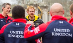 UK Captain Dave Wiseman introducing Prince Harry to the UK Invictus Team. The 110-strong team of wounded, injured and sick (WIS) personnel and veterans will represent the UK at the Invictus Games 2016 next month. Crown Copyright.