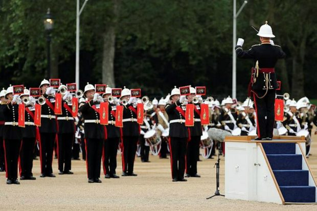 Massed bands of the Royal Marines