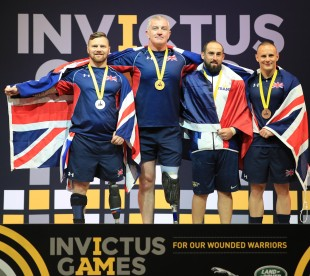 The Invictus Games heavyweight powerlifting finals saw the UK team get all the podium spots. Petty Officer Sean Gaffney secured gold, Ross Austen got silver and Corporal Ian Taylor came in joint third.
