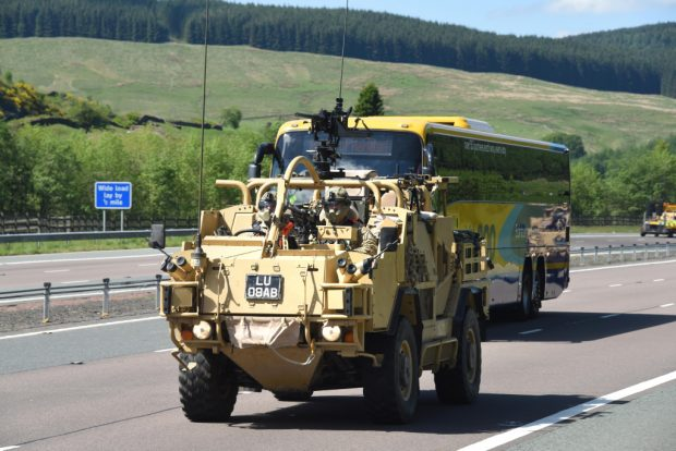 The Royal Scots Dragoon Guards (SCOTS DG for short) today (Friday) embark on the biggest exercise they have carried out since moving back to Scotland from Germany last summer. The Regiment will take part in Exercise Wessex Storm, starting this weekend. The exercise will take place in Kirkcudbright and Salisbury Plain in Wiltshire, to validate almost a years worth of training on these vehicles and certifying them as fit for their new Light Cavalry role. The Regiment, Scotland's only regular Cavalry unit, moved home to Scotland after more than 20 years in Germany last year and changed their role from Armoured (equipped with Challenger 2 Main Battle Tanks), to take on the Light Cavalry role. They have swapped their tanks for the state of the art Jackal reconnaissance vehicle. they will be training with their paired Army Reserve Regiment, The Scottish and North Irish Yeomanry, based in Edinburgh and also equipped with Jackals, in the later phases of the exercise. Over 100 of their new vehicles, will be used on the exercise, and will be moving on roads between their base in Leuchars, Fife and Dumfriesshire this weekend. The Jackal is a reconnaissance and rapid assault vehicle, which allows troops to be ultra mobile and respond to incidents on the battlefield quickly and with as much protection as that mobility will afford. It can also be used for fire support and convoy protection roles. it has successfully been used on deployment to Afghanistan but this is the first time the SCOTS DG will have used it on an exercise of this size.