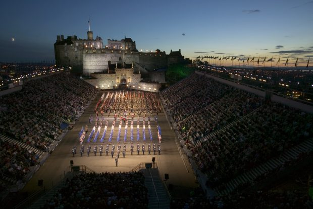 The finale to the Edinburgh Military Tattoo in 2004. Edinburgh Castle esplanade and celebrated music and dance from around the world. Featuring the Massed Pipes and Drums, including the Bands of the Royal Air Force, the remarkable flawless display of the Queens Colour Squadron, The South African Navy Band, Military Band Of The Chinese Army, The Cheraw Indian Dance Group and 100 performers from Australia and Scotland joining together in dance. The varied and stunning international contribution comes from China, Estonia, India and South Africa, with a vivid and enchanting programme of music, dance and drama.