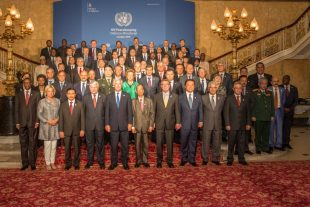 Representatives from 80 nations attended the UN Peacekeeping Defence Ministerial in London. Crown Copyright.