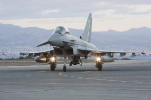 A pair of RAF Typhoons carried out the UK's 1000th strike in the fight against Daesh. The strike, which took place on Wednesday 28 August, targeted terrorist rocket launchers in western Iraq.