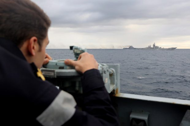 Royal Navy lookout, observing the Russian task group during transit.