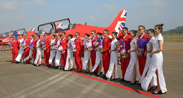Red Arrows take to the skies for their first ever display in China