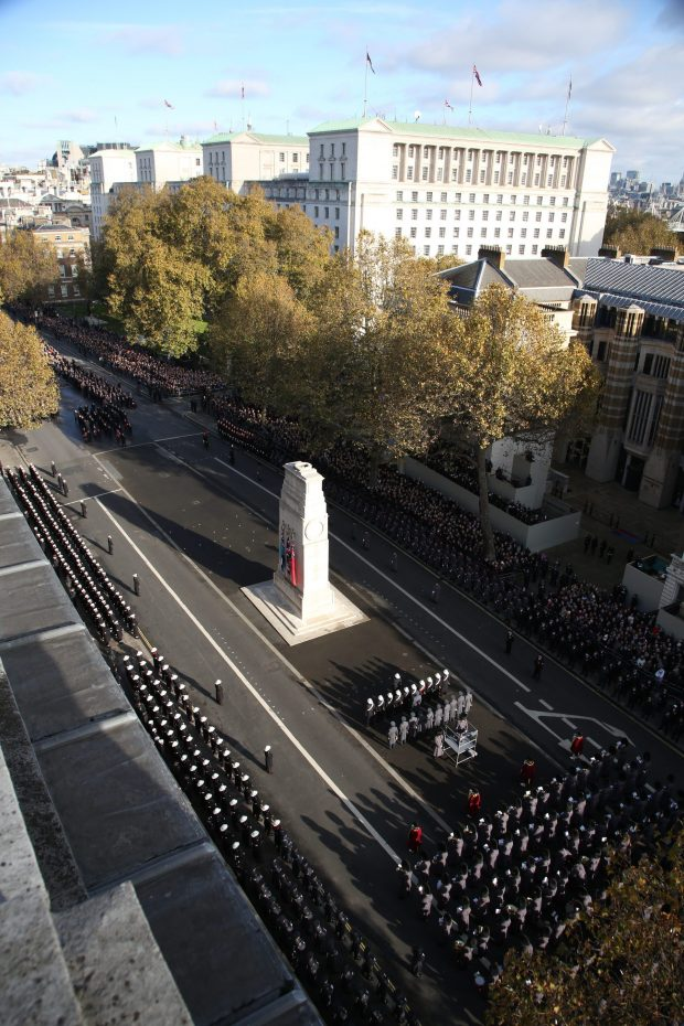 2016 Remembrance Sunday service at the Cenotaph