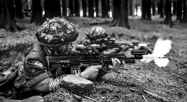 Soldiers entering week six of the Section Commanders Battle Course