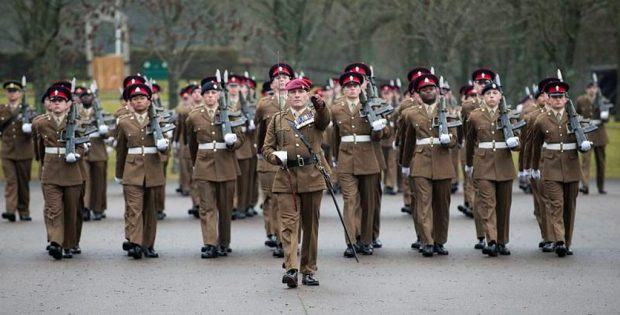 B Squadron on parade at Army Training Regiment in Winchester.