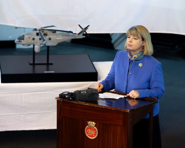 Minister of Events Procurement, Harriet Baldwin MP, visited HMS Drag to announce a £269 million deal for a new cutting-edge helicopter-borne surveillance system designed to protect Royal Navy ships, including the new Queen Elizabeth Class aircraft carriers.