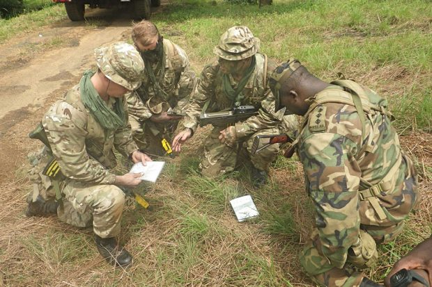 UK forces in Sierra Leone