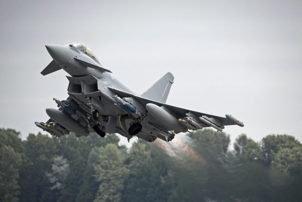 Royal Air Force Typhoon Quick Reaction Alert aircraft launched from RAF Coningsby yesterday. File picture.