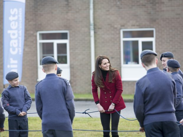 HRH the Duchess of Cambridge visits Royal Air Force Wittering, in her capacity as Royal Patron to the Air Cadet Organisation (ACO).