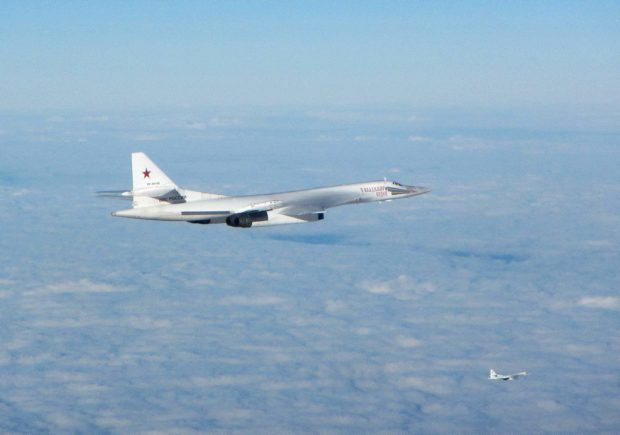 Russian Blackjack aircraft photographed earlier this week after being intercepted by RAF Typhoons