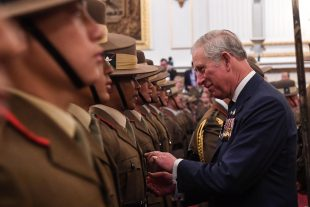 Amid the magnificence and grandeur of Buckingham Palace's ballroom 126 Gurkha soldiers received their Afghanistan Operational Service Medals from Their Royal Highnesses, The Prince of Wales and Prince Harry.