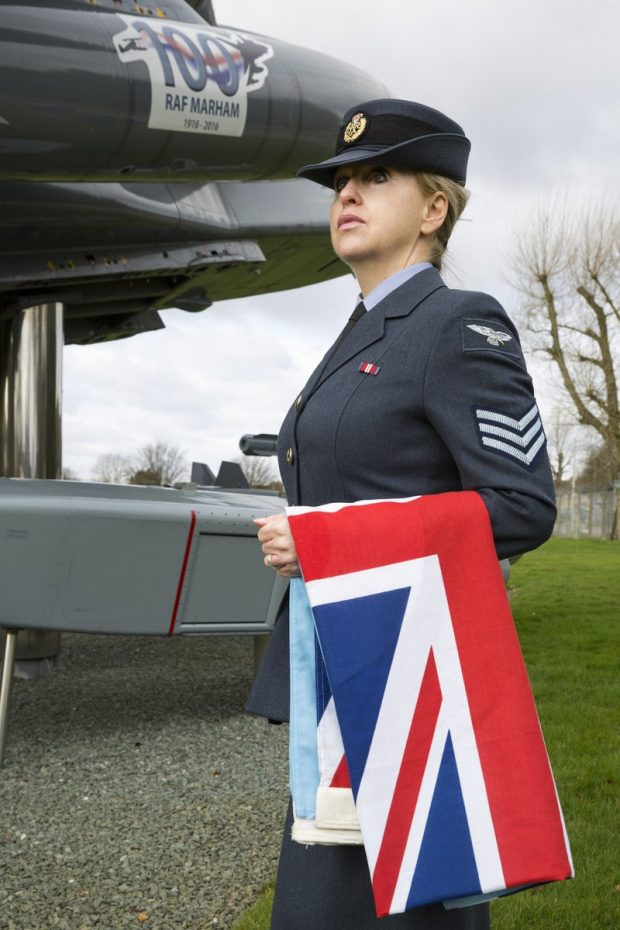 Full Time Reserve Service (FTRS) Sgt Lines from RAF Marham. In charge of all ceremonial duties.