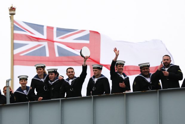 HMS Ocean, the Royal Navy's Fleet Flagship, has returned to her base port