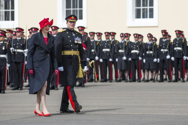 overeigns Parade at RMA Sandhurst