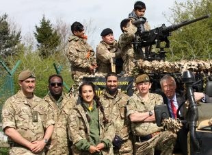 Defence Minister Earl Howe young people from youth groups and schools in Keighley, Bradford and Dewsbury are part of a week of one and two-day camps being piloted by 4th Infantry Brigade, the regional brigade for Yorkshire and the North East