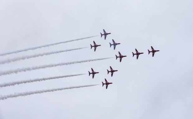 This week, the first nine ship practice display has taken place at RAF Scampton.