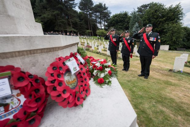 The Canada Day Memorial Service takes place annually at the Military Cemetery in Shorncliffe