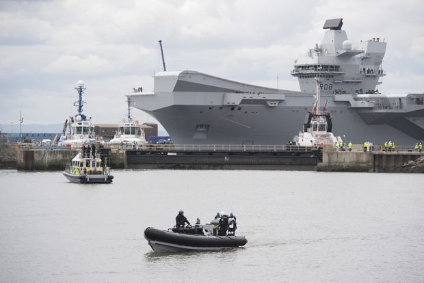 History was made today as HMS Queen Elizabeth, the first QE Class aircraft carrier, set sail from Rosyth to commence first stage sea trials off the north-east of Scotland.