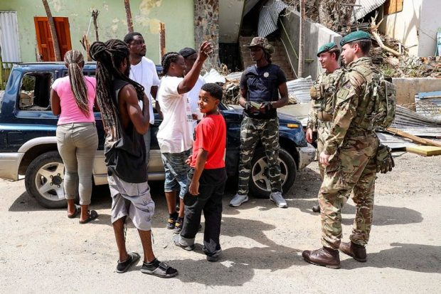 More than 700 UK troops are in the Caribbean helping in the aftermath of Hurricane Irma.