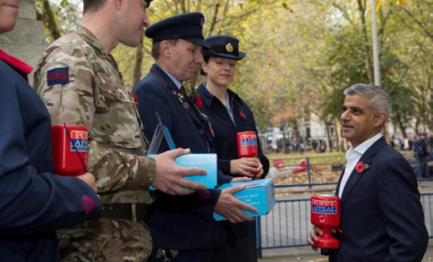 Military personnel joined the Mayor of London, Sadiq Khan, this morning at London Euston to launch London Poppy Day.