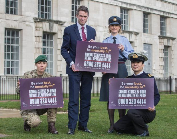 To mark the one month anniversary of the MOD and Combat Stress mental health helpline for serving personnel, the Mail on Sunday features pictures of the new card which has been designed to promote the helpline. Crown copyright.