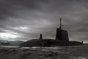 Britain's third £1 billion Astute Class nuclear submarine, HMS Artful. Crown copyright.