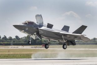 Today saw Britain's next-generation F-35B fighter jet fly its first sortie from RAF Marham.