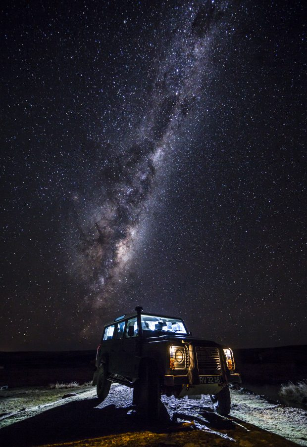 Defender of The Galaxy.– A Land Rover Defender pictured at night under the Milk Way Galaxy, on the only road between Stanley and Mount Pleasant in the Falkland Islands.  Judging for the 2018 Royal Air Force Photographic Competition recently took place at the Royal Air Force Museum London. Crown copyright.