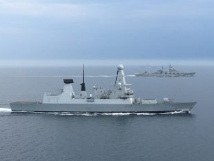 Type 45 destroyer HMS Diamond shadowed two Russian warships overnight as they passed through the English Channel.