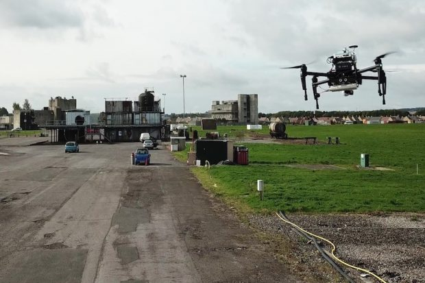 Project Minerva tests cutting-edge robots and drones at DSTL, Porton Down.