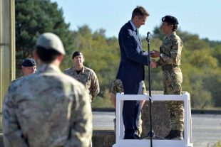 Secretary of State for Defence, The Rt Hon Gavin Williamson MP, present the inspirational athlete and former soldier with a scroll marking the appointment which had been approved by Her Majesty the Queen earlier this year.
